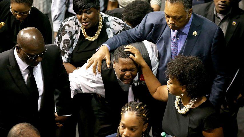 Cameron Sterling bei der Beerdigung seines Vaters im Juli 2016