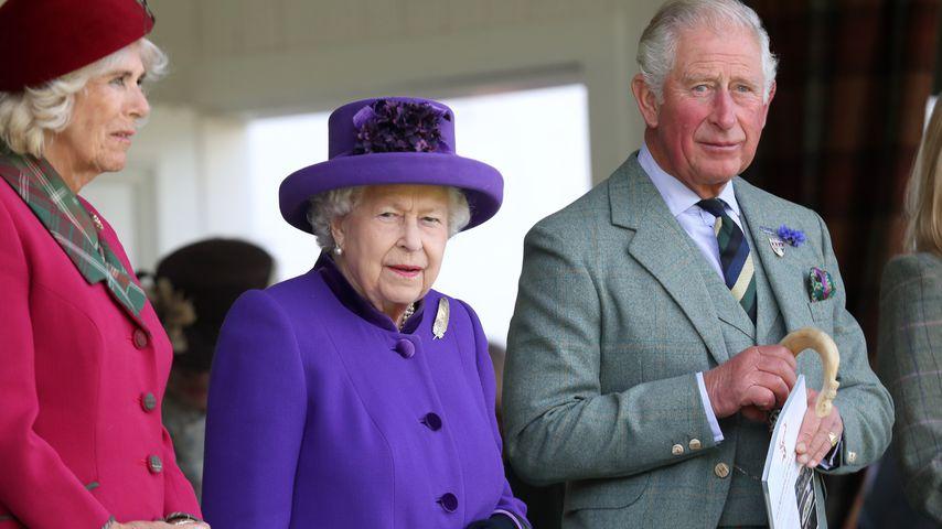 Camilla, Queen Elizabeth II. und Prinz Charles bei den 2019 Braemar Highland Games