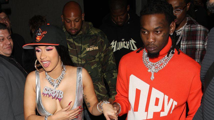 Cardi B und Rapper Offset verlassen einen Club in Hollywood
