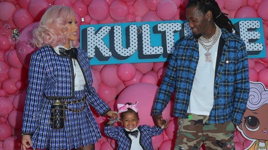 Cardi B und Offset mit ihrer Tochter Kulture Kiari