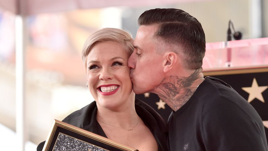 Pink und ihr Mann Carey Hart auf dem Walk of Fame in Hollywood, 2019