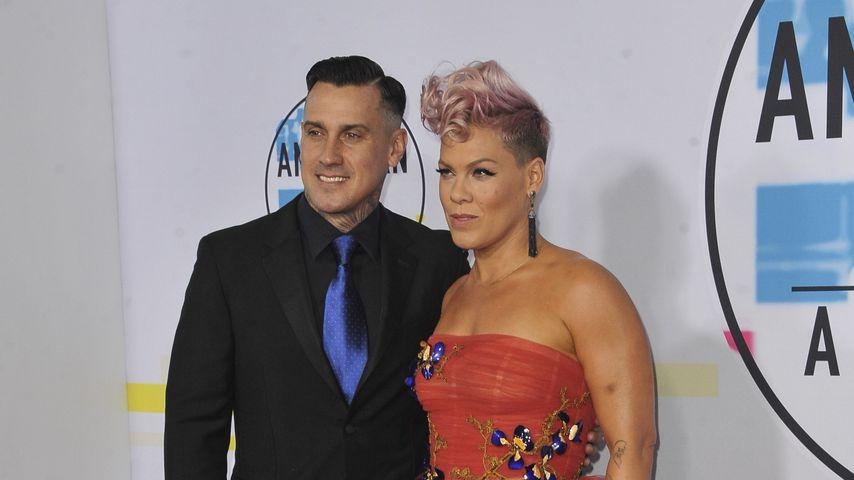 Carey Hart und Pink bei den American Music Awards 2017