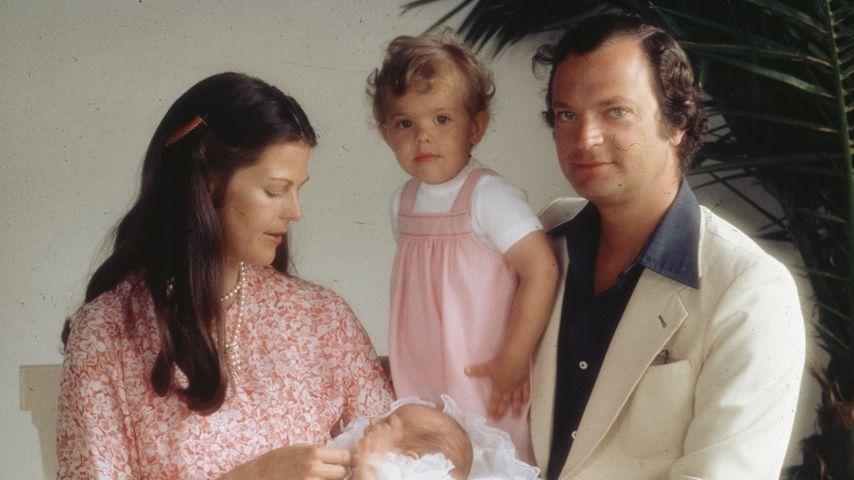 Prinz Carl Philip von Schweden, Prinzessin Victoria von Schweden, Königin Silvia von Schweden und Ca