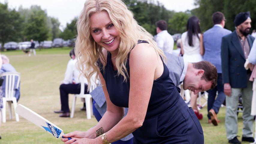 Carol Vorderman beim Celebrity Cricket Day 2015