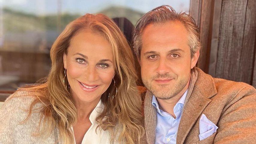 Selten: Caroline Beil teilt ein Pärchenfoto mit ihrem Mann