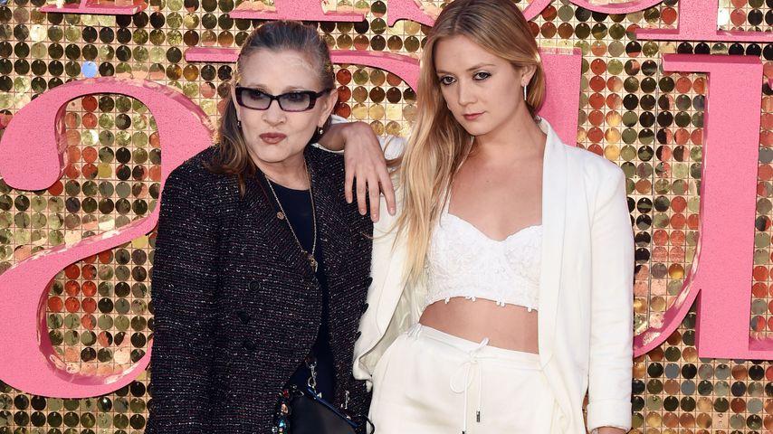 Carrie Fisher mit ihrer Tochter Billie Lourd im Juni 2016