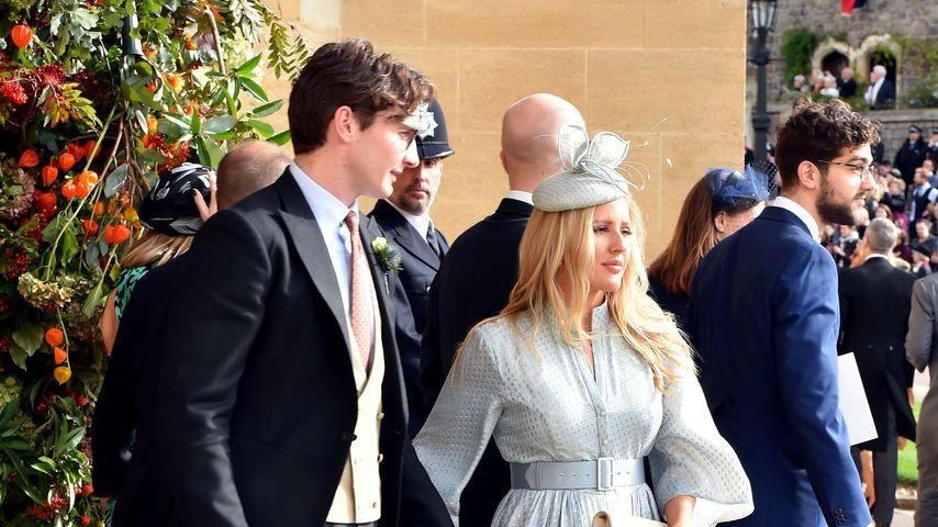 Caspar Jopling und Ellie Goulding auf der Hochzeit von Prinzessin Eugenie in Windsor, 2018
