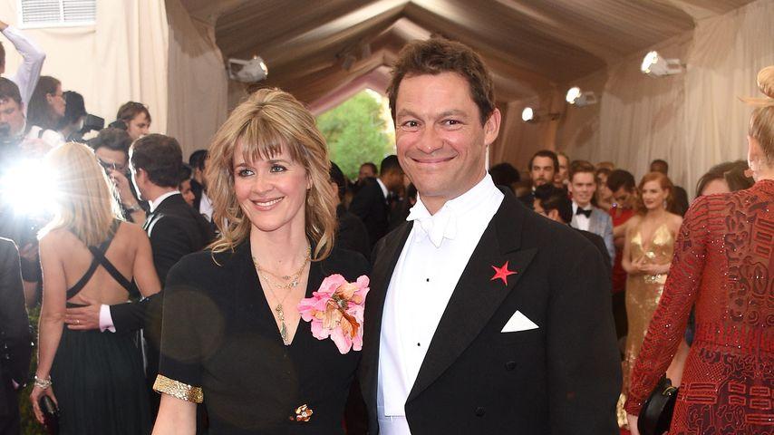 Dominic West mit seiner Frau Catherine FitzGerald auf der Met Gala, 2015