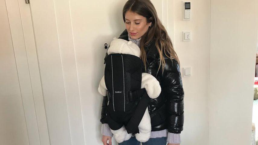 Erster Flug mit Baby: So war's für Neu-Mama Cathy Hummels