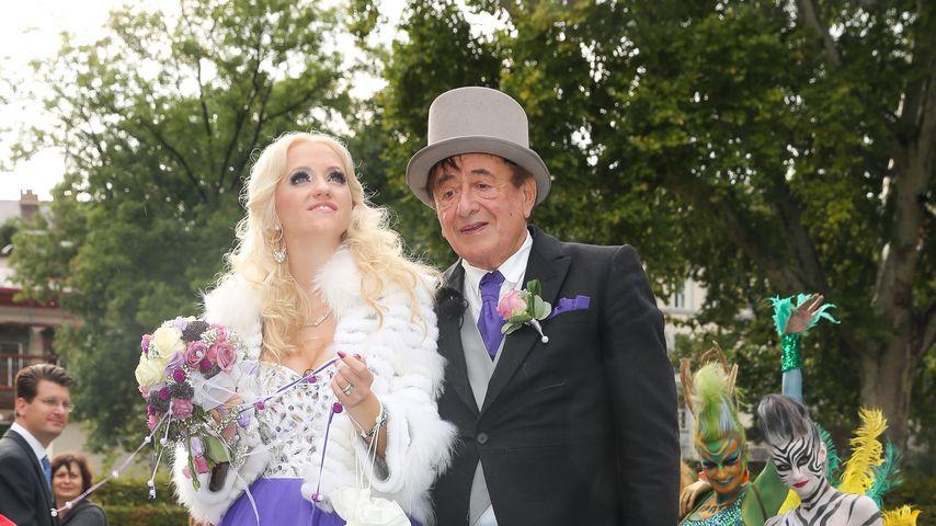 Cathy und Richard Lugner während ihrer Hochzeit 2014 in Wien