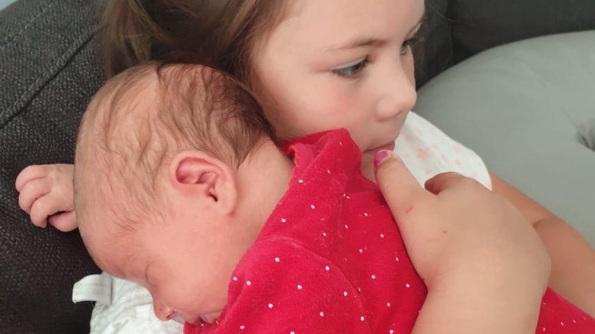 Celina-Sophie Wollny mit ihrer Schwester Anastasia Sophie
