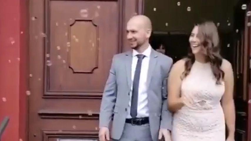 Céline Denefleh bei ihrer Hochzeit, Oktober 2020