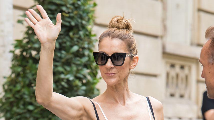 Sängerin Celine Dion in Paris