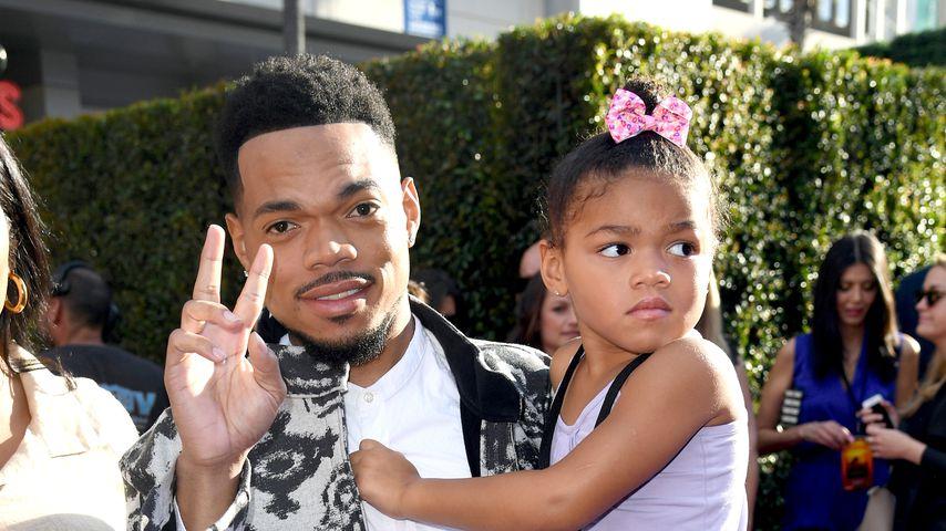 Chance the Rapper mit seiner Tochter Kensli