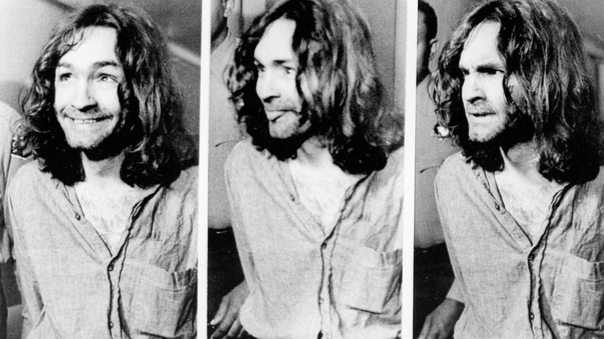 Charles Manson 1970 vor Gericht in Los Angeles
