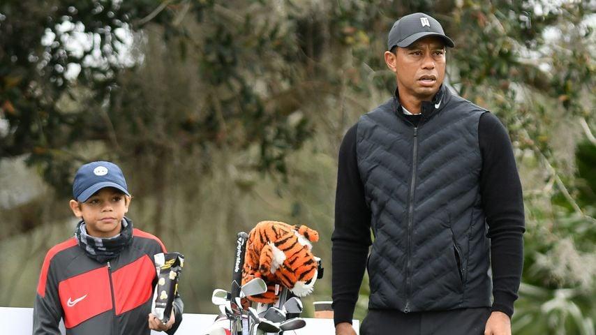 Charlie und Tiger Woods im Dezember 2020