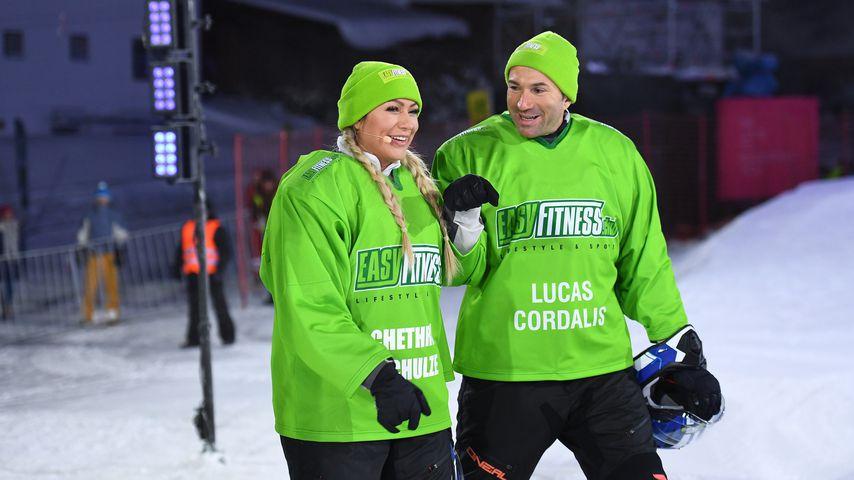 Chethrin Schulze und Lucas Cordalis bei den ProSieben Wintergames