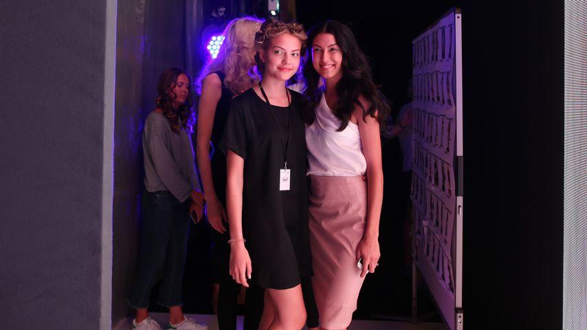 Cheyenne Ochsenknecht und Rebecca Mir Backstage bei der Riani Show