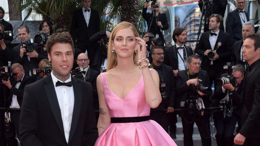 Chiara Ferragni (r.) und ihr Ehemann Fedez beim Filmfestival in Cannes 2018