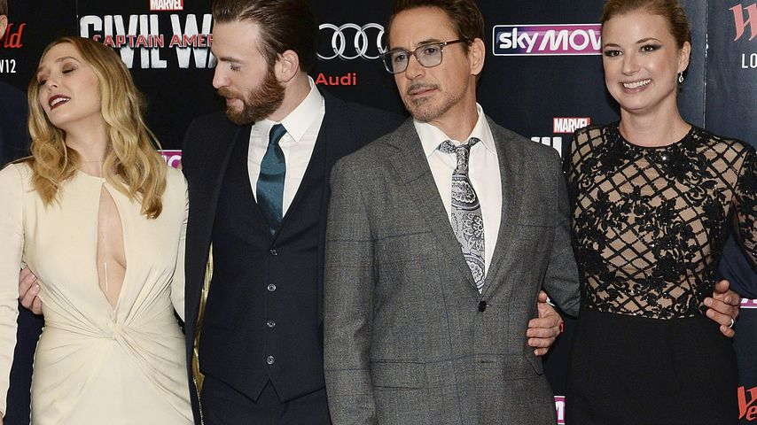 Elizabeth Olsen, Robert Downey Junior, Chris Evans und Emily VanCamp