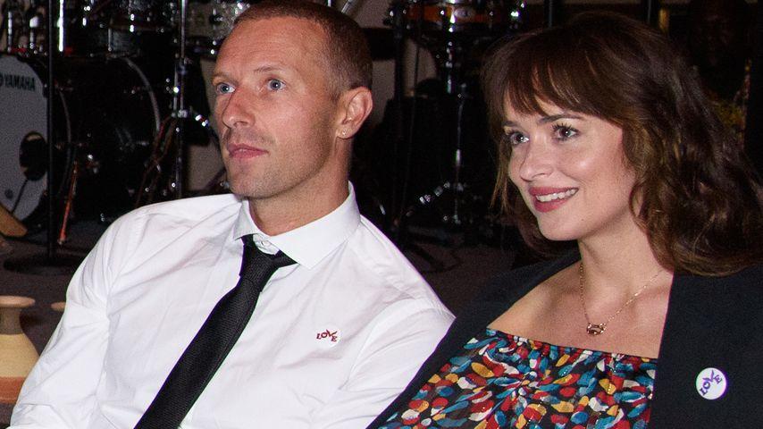 Chris Martin und Dakota Johnson im September 2019