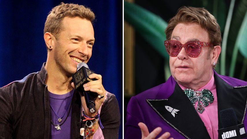 Lustig oder daneben? Chris Martin scherzt über Elton John