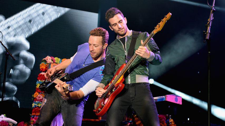 Chris Martin und Guy Berryman von Coldplay