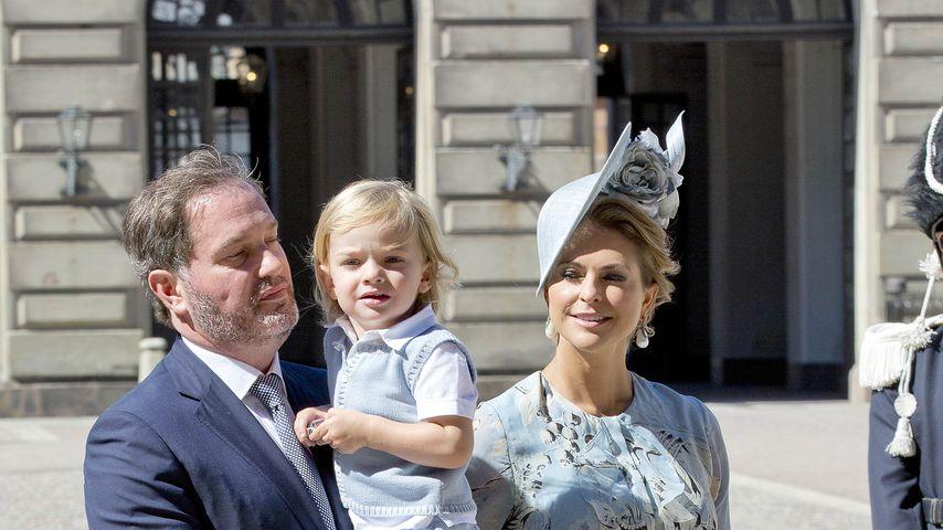 Chris O'Neill und Prinzessin Madeleine von Schweden mit ihren Kindern bei Victorias Geburtstagsfeier