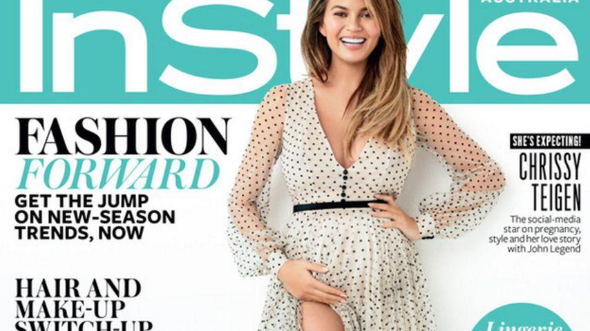 Mama-Fotoshooting: Chrissy Teigen schwanger auf Magazincover