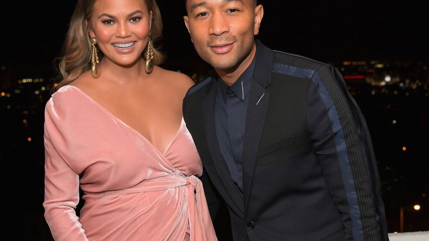 Chrissy Teigen mit ihrem Ehemann John Legend auf dem GQ Men of the Year Dinner 2017 in Los Angeles