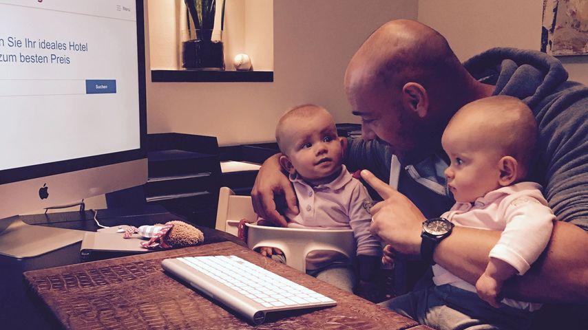 Christian Tews mit seinen zwei Töchtern
