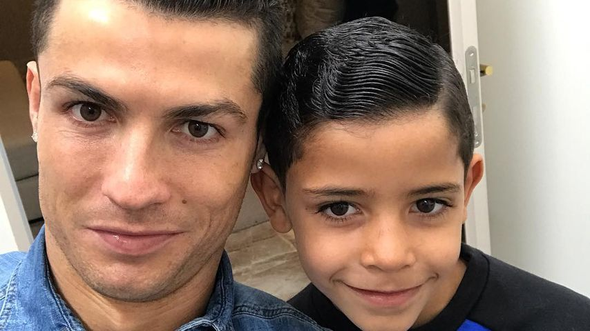 Süßes Papa-Sohn-Selfie: Ronaldo lässt Frauenherzen schmelzen