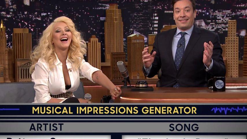 Christina Aguilera und Jimmy Fallon