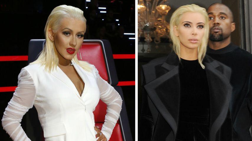 Wow! Hier macht Christina Aguilera auf Kim Kardashian