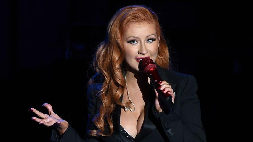 Christina Aguilera während eines Konzerts in Los Angeles