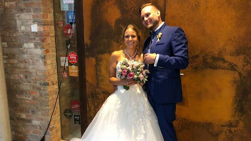 """Christina und Marcel am Tag ihrer """"Hochzeit auf den ersten Blick"""", 2019"""