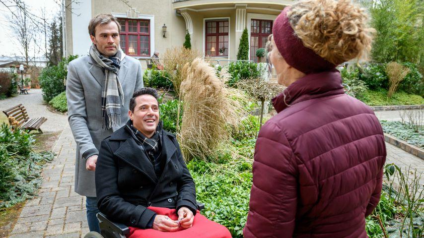 """Christopher Reinhardt, Markus Pfeiffer und Léa Wegmann, """"Sturm der Liebe""""-Darsteller"""