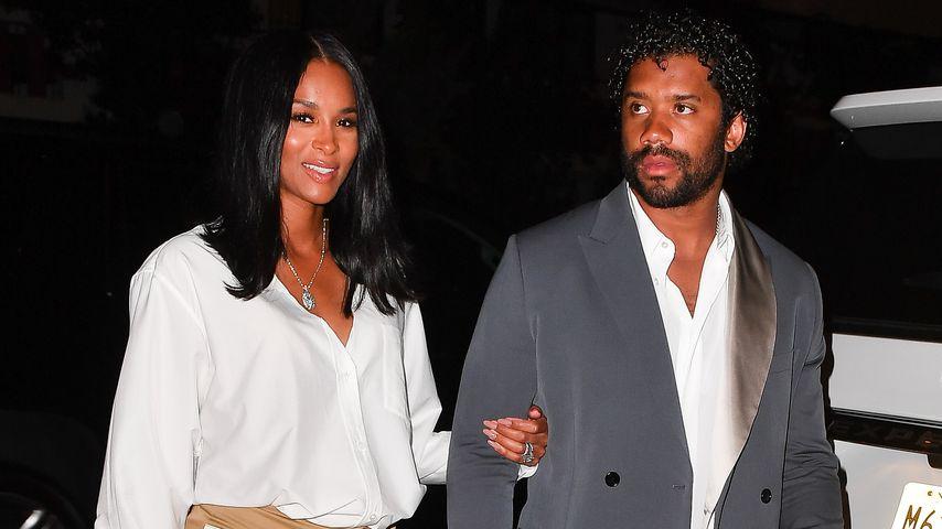 Ciara und Russell Wilson nach Baby-News erstmals gesichtet
