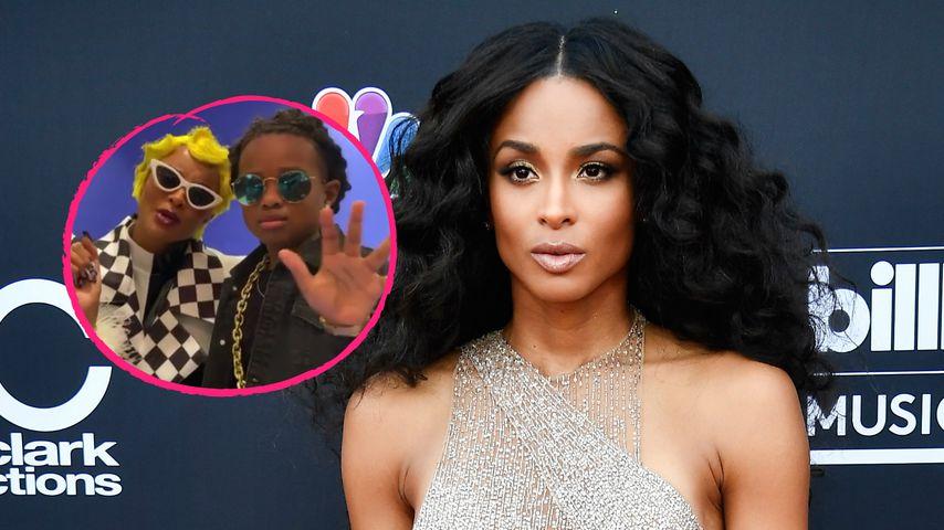 Ciara stellt mit ihrem Sohn Cardi Bs Albumcover nach