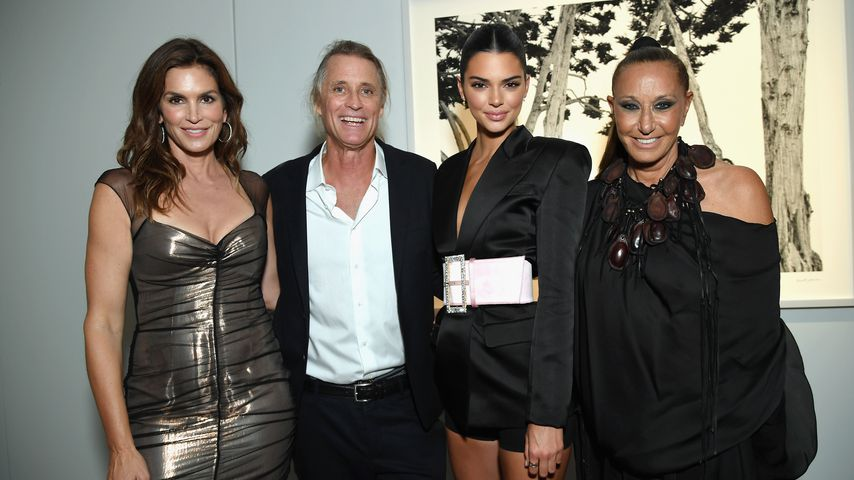 Cindy Crawford, Russell James, Kendall Jenner und Donna Karan