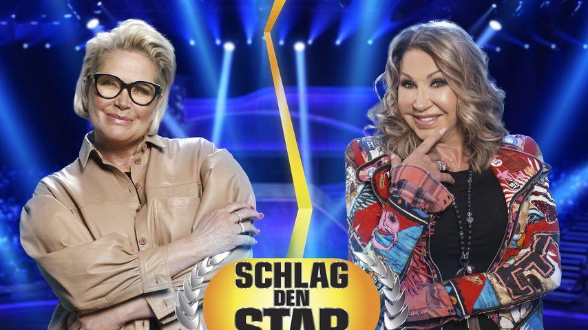 """Unfair? Carmen und Claudia an """"Schlag den Star""""-Sprossenwand"""