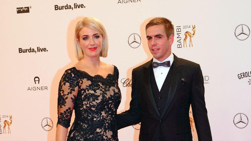 Philipp Lahm und Claudia Lahm bei der Bambi Verleihung 2014
