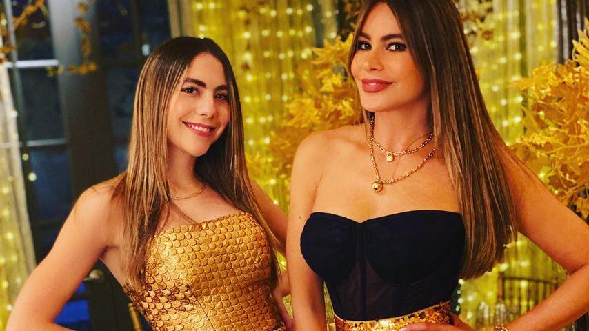 Sofia Vergara (r.) und ihre Nichte Claudia an Thanksgiving!