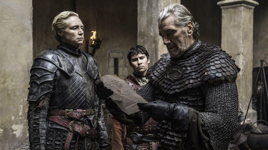 """Clive Russell, Gwendoline Christie und Daniel Portman in """"Game of Thrones"""""""
