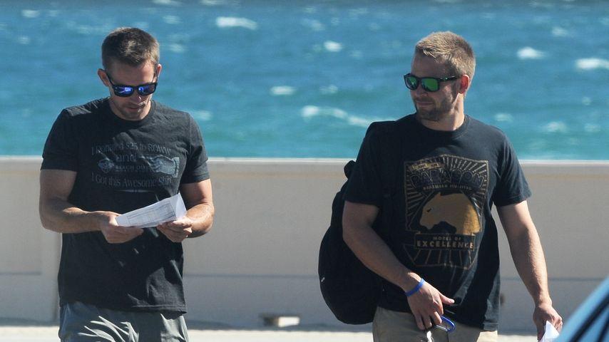 """Cody Walker und Caleb Walker am Set von """"Fast & Furious 7"""""""