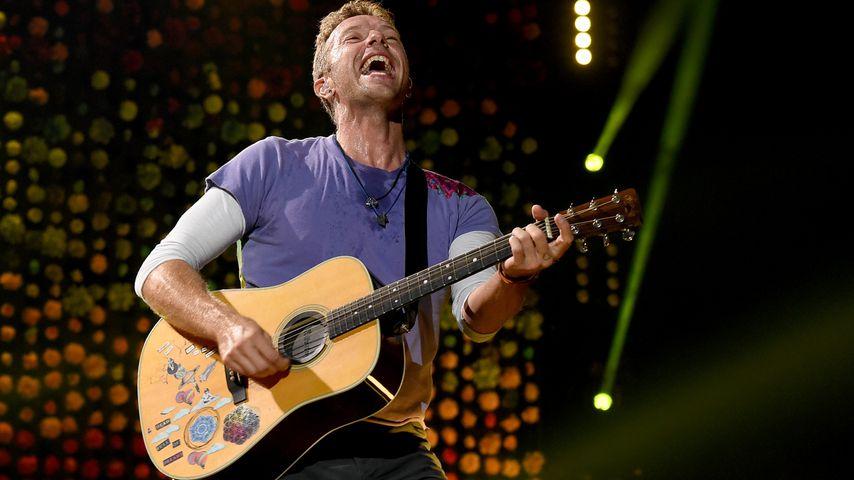 Coldplay-Frontmann Chris Martin während eines Konzerts in Pasadena, 2017