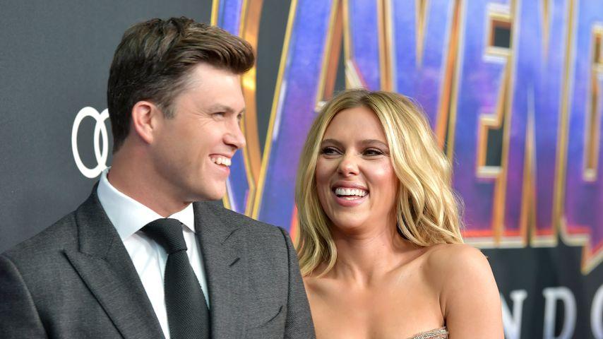 """Colin Jost und Scarlett Johansson bei der """"Avengers: Endgame""""-Weltpremiere im April 2019"""