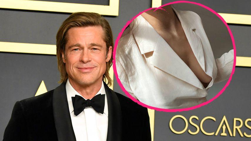 Mega-Dekolleté: Brad Pitts Flirt Nicole lässt tief blicken!