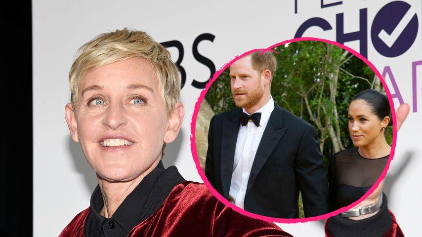 """Bodenständig"": Ellen DeGeneres über Prinz Harry und Meghan!"