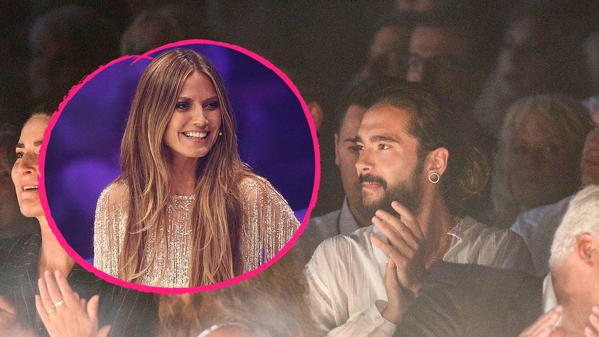 Erste Pics: So verliebt feuert Tom Heidi bei GNTM-Finale an